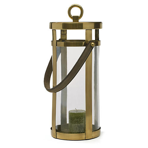 "19"" Wellington Lantern, Brass"