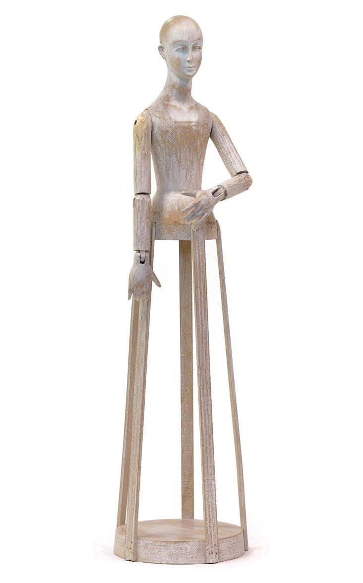 Blanco Madame Figurine, Rustic White