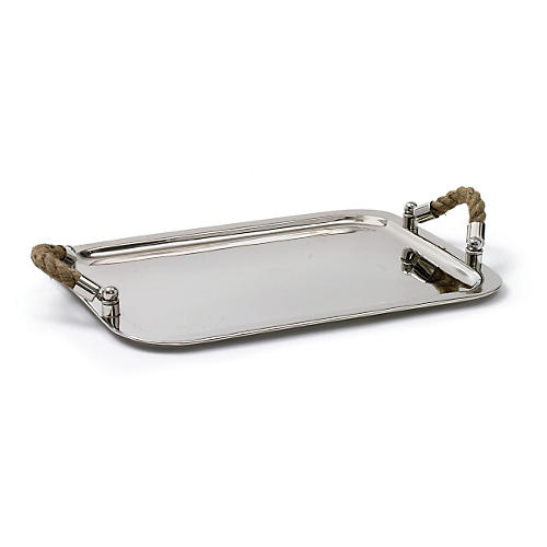 "19"" Andromede Tray w/ Rope Handles"
