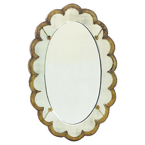 "Sweetheart 25""x37"" Wall Mirror, Gold"