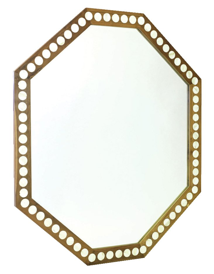 Knowles Oversize Mirror, Gold