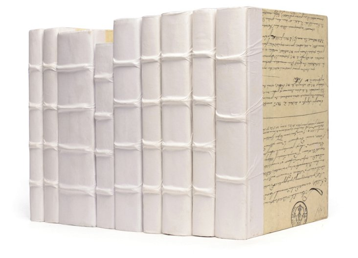 Decorative Rebound Books, White
