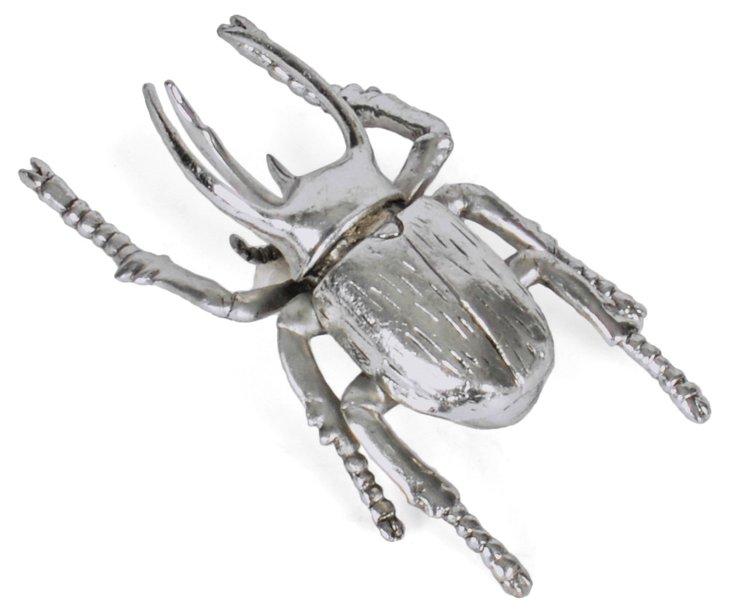 """4"""" Beetle Objet, Silver"""