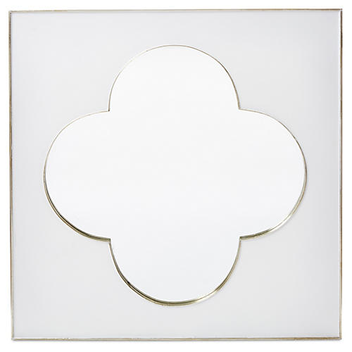 "Flint 36"" Wall Mirror, White"