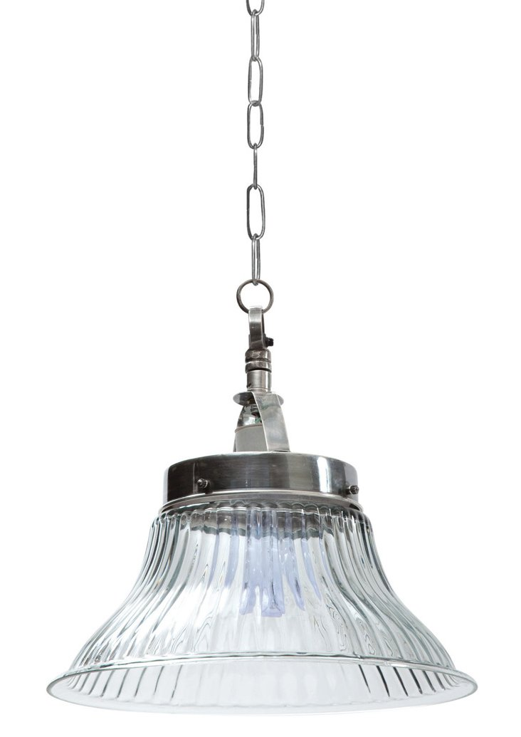 Gower Shop Light Pendant, Polished