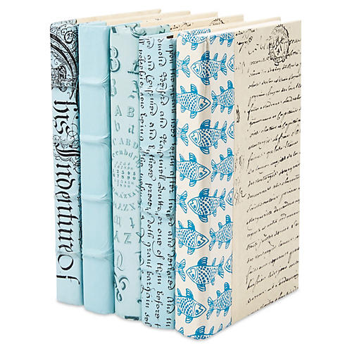 S/5 Designer Books, Light Blue