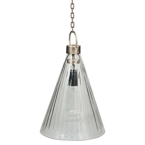Cone 1-Light Pendant, Glass