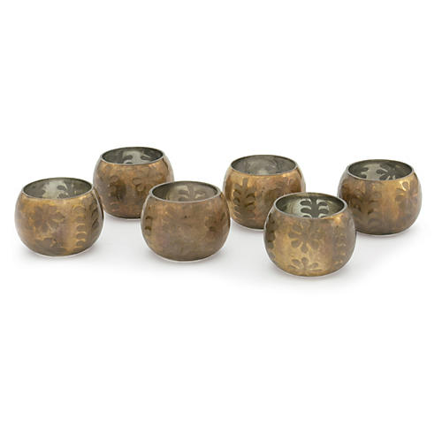 S/6 Collins Votives, Bronze
