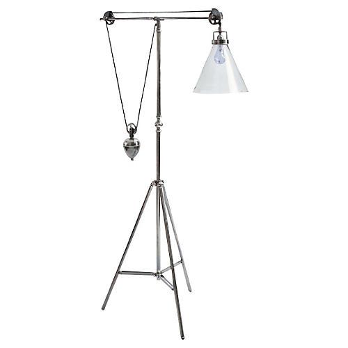 Ina Weighted Floor Lamp, Steel