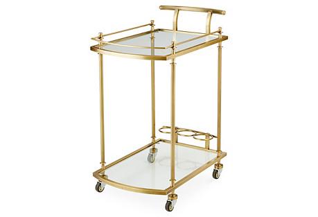 Salcedo Bar Cart, Brass