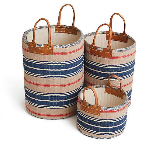 Asst. of 3 Goodman Baskets, Multi
