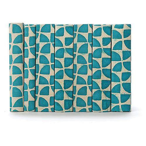 Linear Foot of Pinwheel Books, Blue
