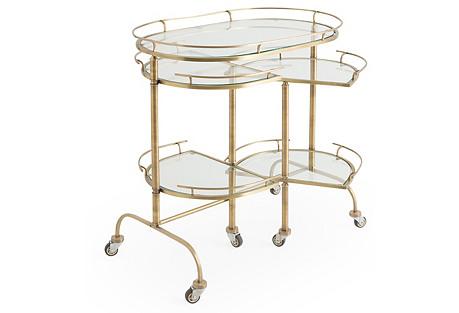 Bond Bar Cart, Brass