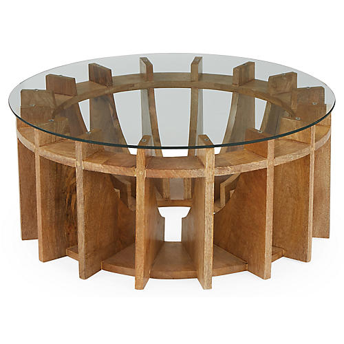 Mira Wood Coffee Table, Honey