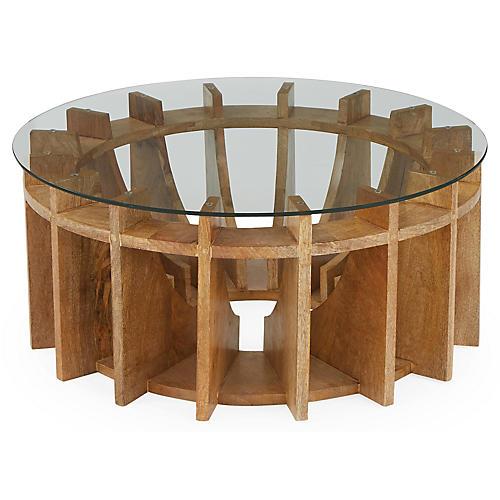 Mira Wood Coffee Table, Honey