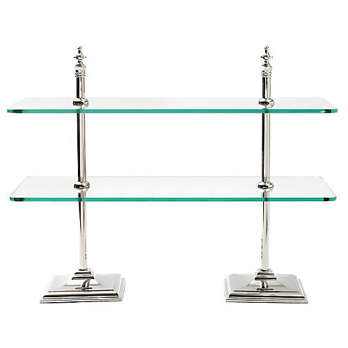 Jovan Creperie Stand, Silver/Clear