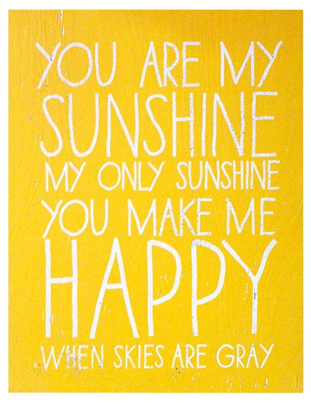 Handwritten You are My Sunshine