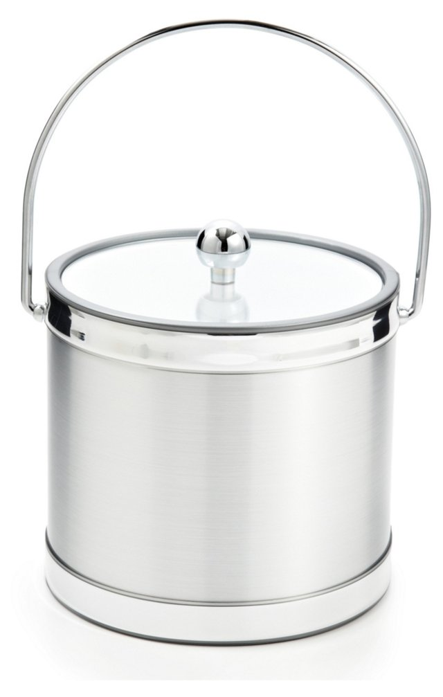 Brushed Ice Bucket, Silver
