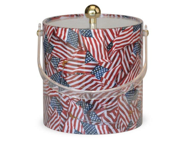 American Flag Ice Bucket
