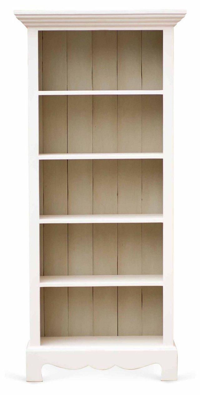 Beach House Bookcase, White/Sage Gray