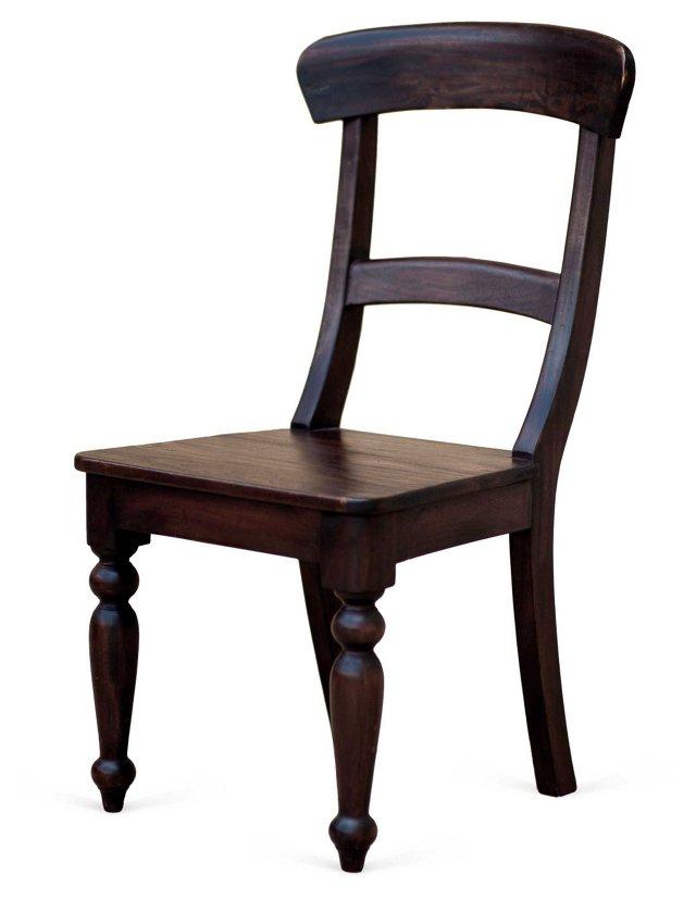 Cathleen Side Chair, Black Walnut