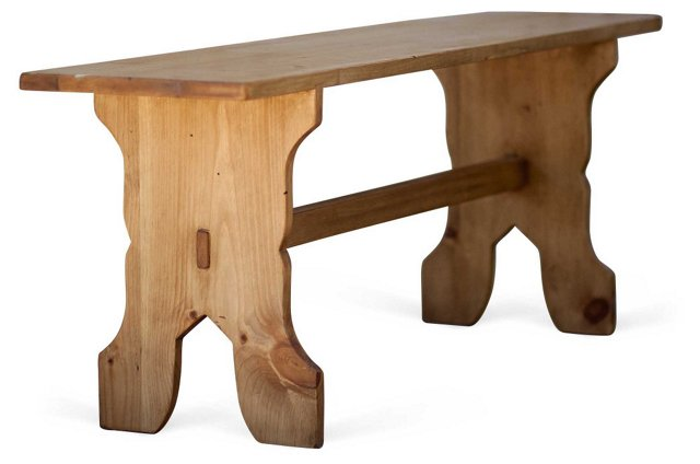 """Craftsman 60"""" Pine Bench, Natural"""
