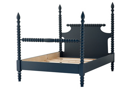 Gwendoline Spindle Bed, Navy