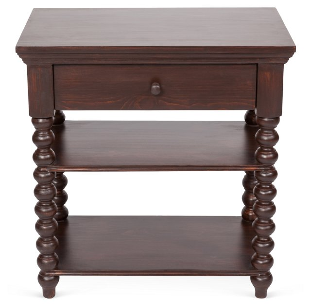 Alex Spindle Side Table, Mahogany
