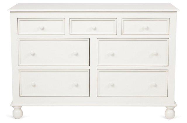 Beside-the-Sea Double Dresser, White