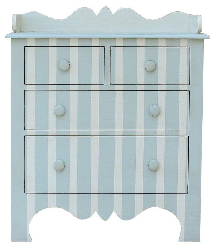 Harry Striped Dresser, Cream/Seafoam