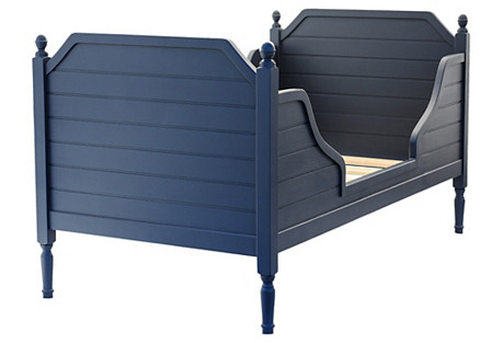 Navy Beach-House Bed, Twin