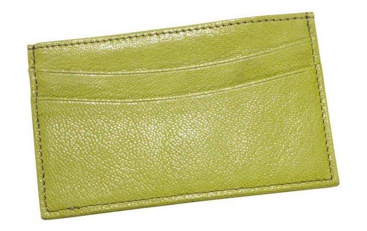 Slim Design Card Case, Lime