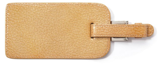 Leather Luggage Tag, Beige