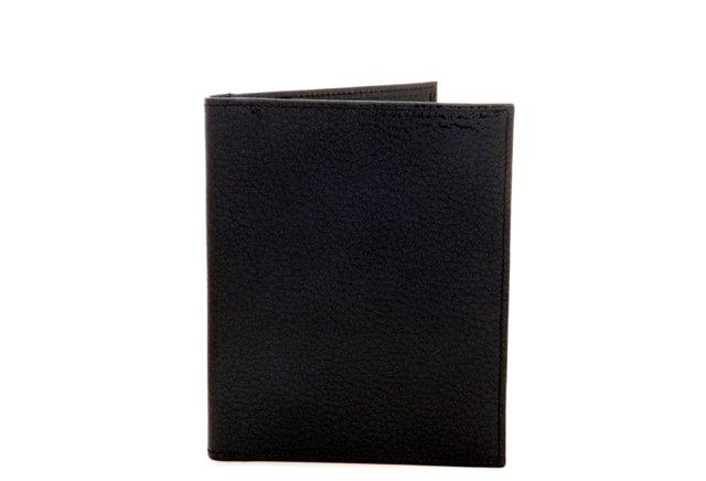 Leather Passport Wallet, Navy