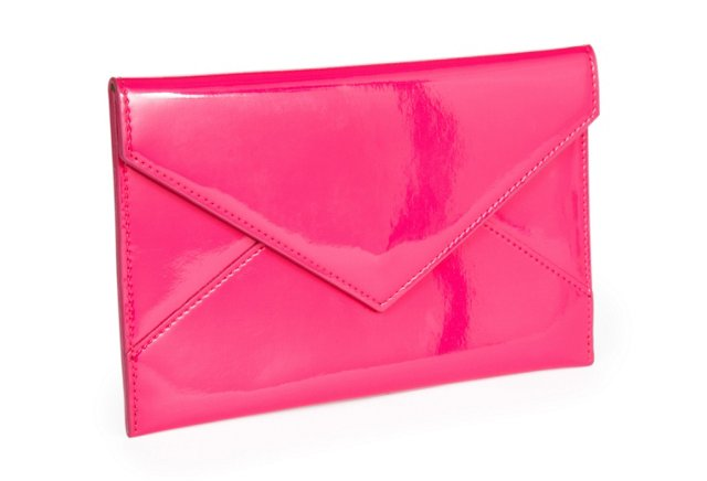 Patent Leather Envelope, Pink