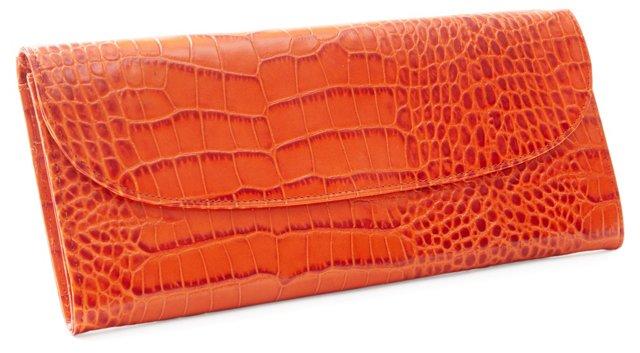 Ladies Ticket Holder Wallet, Orange