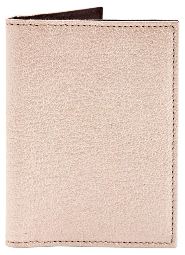 Bi-Fold Wallet w/ Frame, Pearl