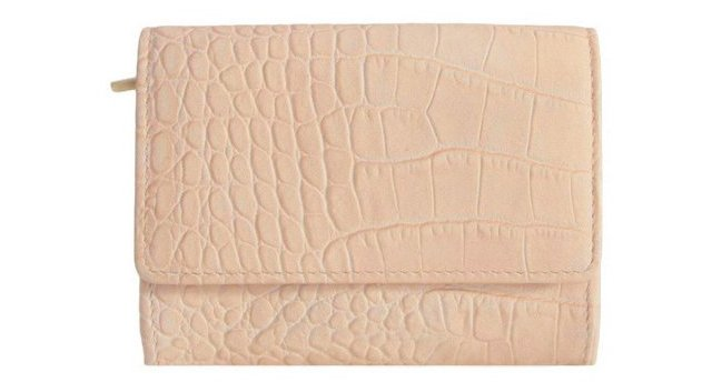 Leather Foldover Wallet, Taupe