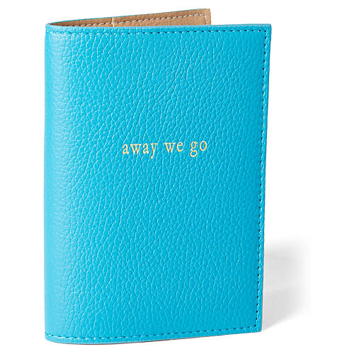 Away We Go Passport Case, Turquoise