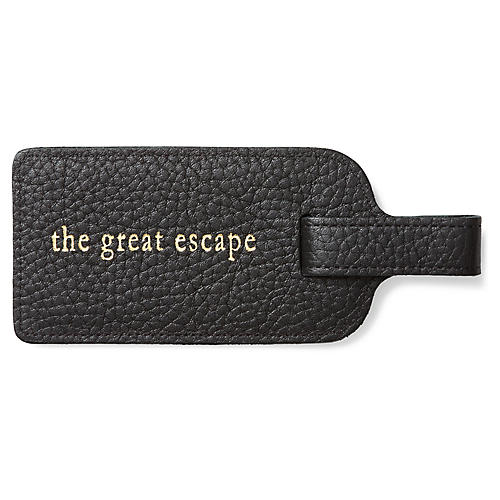 Great Escape Luggage Tag, Black