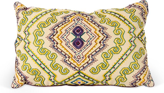 Jeweled Abyssinian Throw Pillow