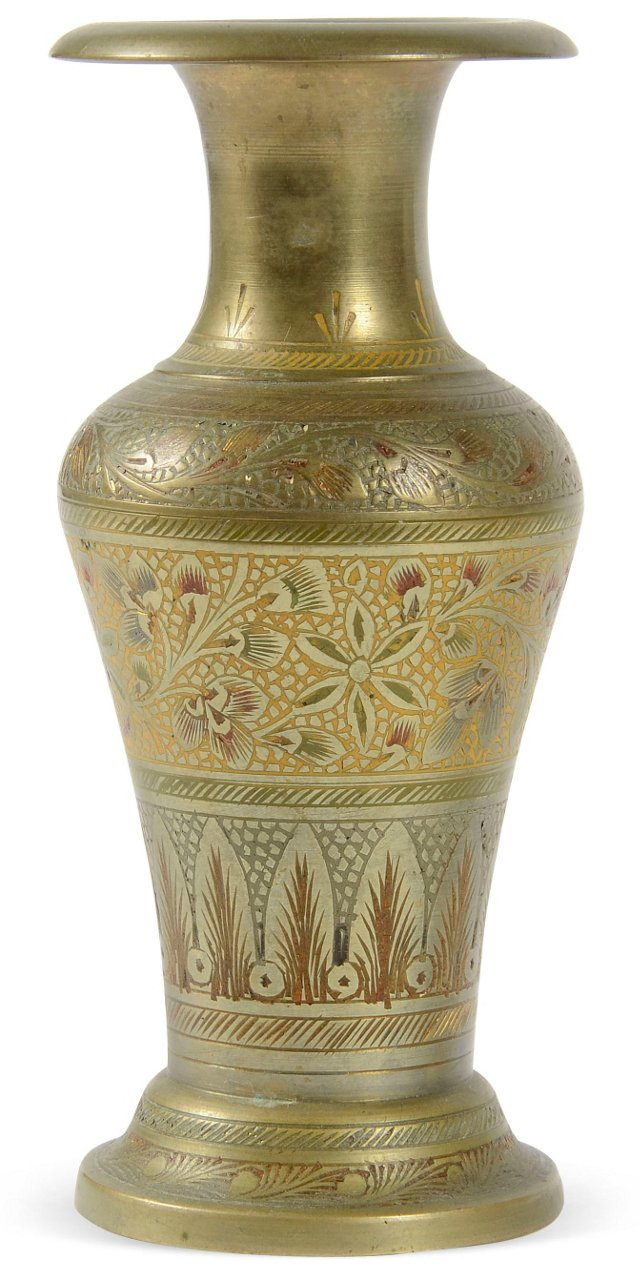 Small Brass Indian Vase