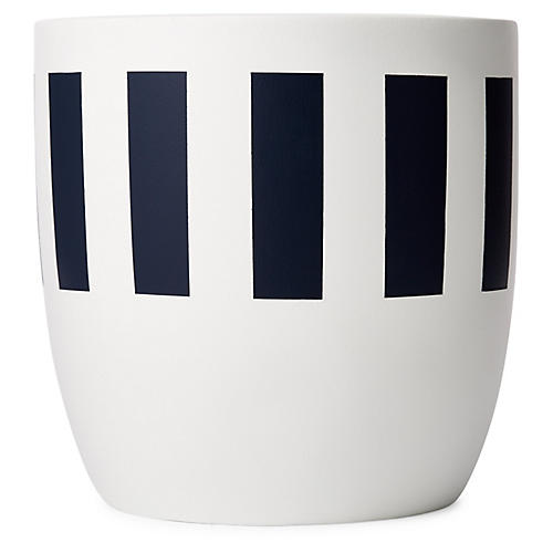"8"" Mesa Planter, Indigo/White"