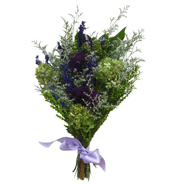"17"" Mulberry Bouquet, Dried"