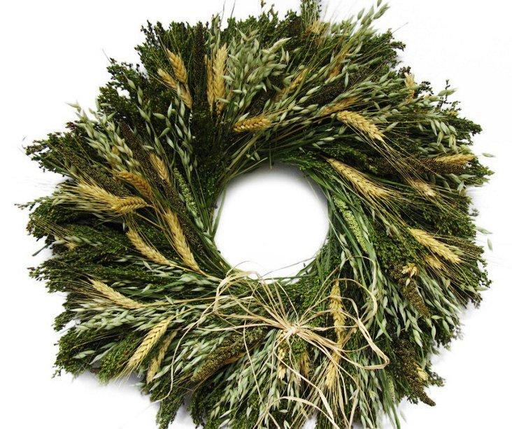 "18"" Millet & Avena Wreath, Dried"
