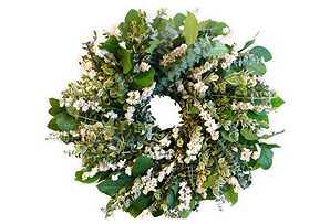 "18"" Eucalyptus & Salal Wreath, Dried"