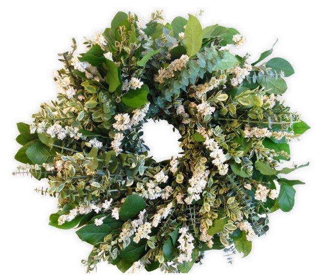 """18"""" Eucalyptus & Salal Wreath, Dried"""