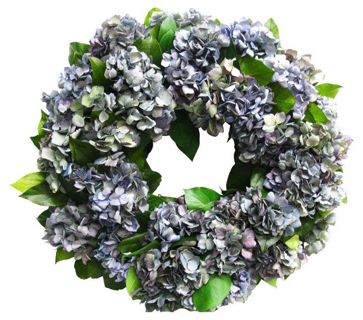 "18"" Hydrangea & Salal Wreath, Dried"