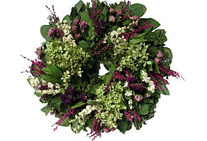 "18"" Ferry Roses Wreath, Dried"