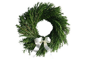 "16"" Rosemary Wreath, Live"